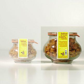 Gesunde weiche leckere Käse Snacks im Glas ohne Zusatzstoffe - 100% natürlich - besonders geeignet für Training und für ältere Hunde mit schlechteren Zähnen