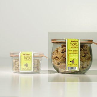 Gesunde glutenfreie vegane hypoallergene weiche Hundesnacks Leckerlies & Kekse für Hunde -ausgewählte Zutaten - schonend und fair in Handarbeit hergestellt