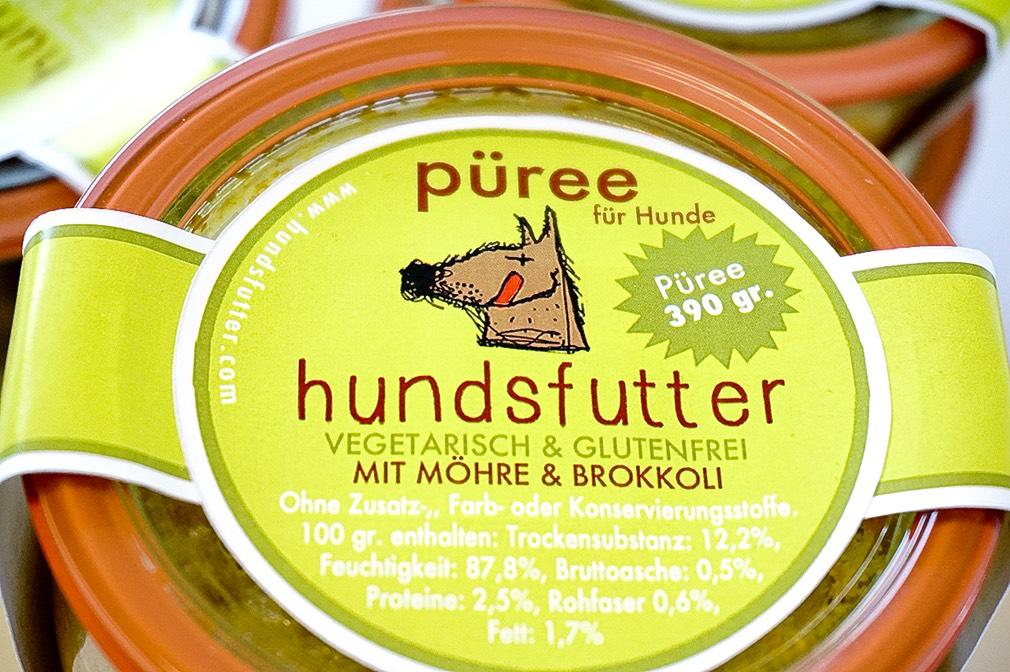 vegetarische hypoallergene glutenfreie Pürees für Hunde