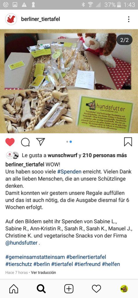 Berliner Tiertafel bekommt hundsfutter