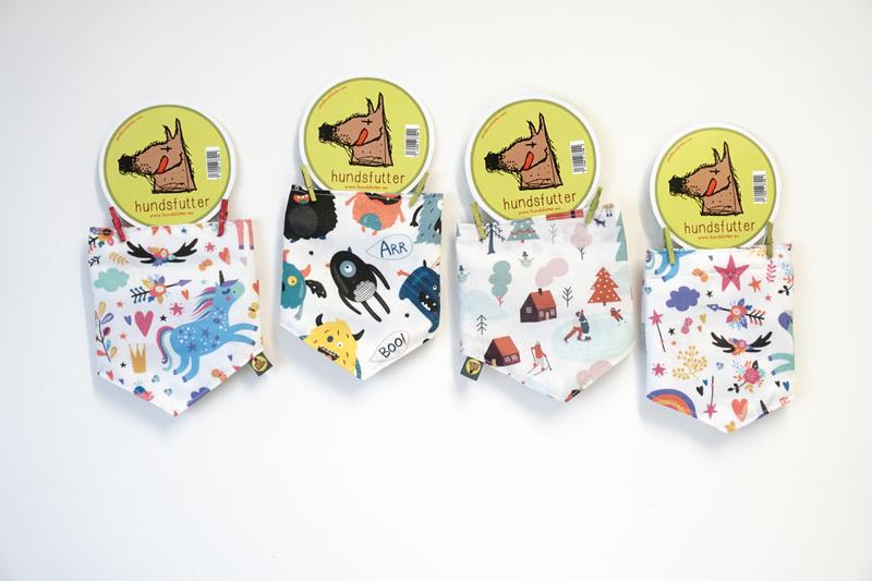 Bandanas til hunde individuelt og retfærdigt fremstillet i Tyskland af bæredygtige materialer
