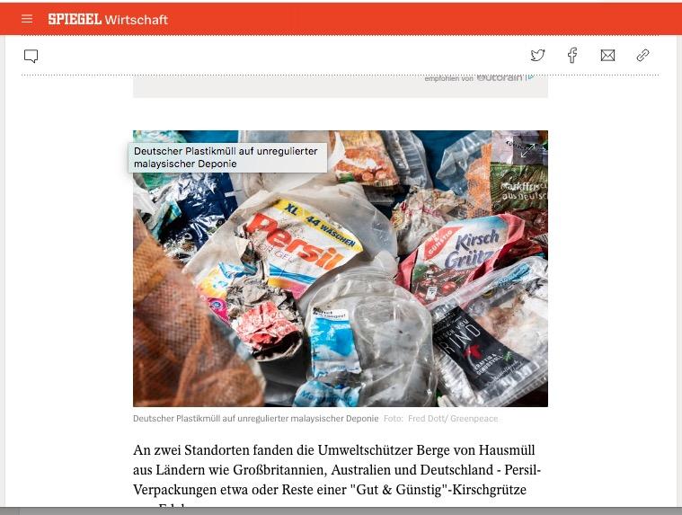 Es ist leider möglich, wertlosen Plastikmüll als Wertstoff zu deklarieren und Ihn in arme Länder zu exportieren. Dort lässt man die Menschen dann mit dem Problem allein.