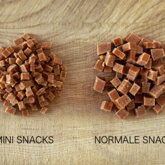 Mini snacks for very small dogs, soft, vegan and without preservatives