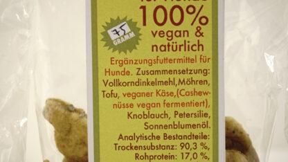 vegane Käsesnack für Hunde in Hundeform